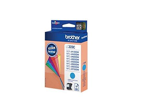 Preisvergleich Produktbild Original Brother LC-223C Tinte (cyan, ca. 550 Seiten, Inhalt 5,90 ml) für DCP J 4120; MFC-J 4420, 4425, 4620, 4625, 5320, 5620, 5625, 5720
