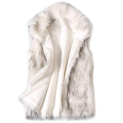 Beikoard vestiti donna invernali gilet pelliccia donna,cappotto donna invernale elegante gilet di lana da donna gilet di pelliccia sintetica colletto da stand giacca di pelliccia sintetica vest
