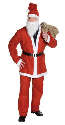 Kostüm Rubies Weihnachtsmann - Rubie's Herren Kostüm Weihnachtsmann Anzug Bart Gürtel Mütze Gr. 48 bis 52