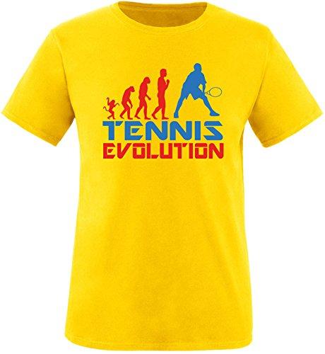 EZYshirt® Tennis Evolution Herren Rundhals T-Shirt Gelb/Rot/Blau
