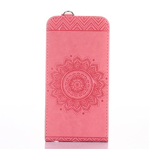 iPhone 6s Plus Custodia Flip,iPhone 6s Plus Custodia in Pelle,Slynmax Stampato Copertura di Ccuoio Folio Cover in PU Dipinto Sintetica Ecopelle Guscio Wallet Case per Apple iPhone 6 Plus /6S Plus Prot Rosa