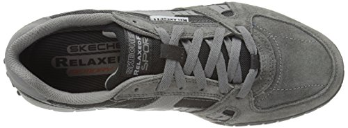Skechers Floater, Chaussons Sneaker Homme Gris (Ccbk)