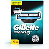 Gillette Mach 3 Shaving Blades- Pack of 6 (Cartridges)