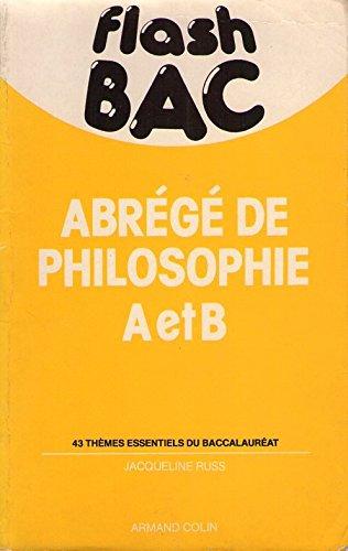 Abrégé de philosophie A et B