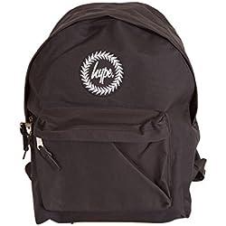 Hype Negro Insignia Mochila Bolso - Ideal Escuela Bolso - Mochila Niño y niña