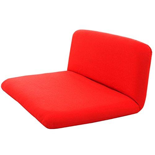 Klappsofa- Klapp-Liege Sofa, waschbar faul Stuhl Schlafsofa, Doppel-Balkon Rückenlehne Stühle schwimmende Stühle, rot und grün (Farbe : Red) - Doppel-liege Stuhl