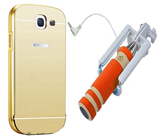 Novo Style Luxury Mirror Effect Acrylic back + Metal Bumper Cover for Samsung Galaxy Note 2 7100  Golden + Wired Selfie Stick No Battery Charging Premium Sturdy Design Best Pocket Sized Selfie Stick  available at amazon for Rs.399