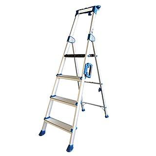 ALUMEXX UP 4-stufige Stufenstehleiter mit extra breiten Stufen Leiter