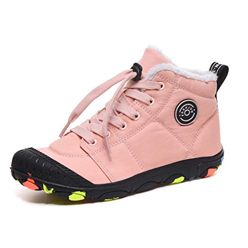 Pyjacos Botas de Nieve para niños Zapatos de Invierno, Rosa, 37EU