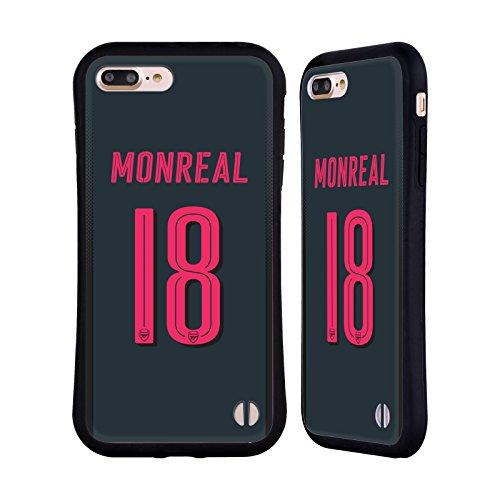 Ufficiale Arsenal FC Alex Iwobi 2017/18 Giocatori Kit Third Gruppo 1 Case Ibrida per Apple iPhone 6 Plus / 6s Plus Nacho Monreal