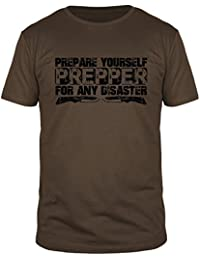 FabTee Prepper Prepare Yourself For any Disaster - Men Organic Cotton T-Shirt - Size S-3XL