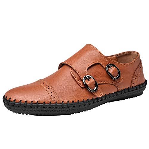 Mocassini Uomo Pelle Classic Scarpe Loafers Slip On Scarpe da Guida Scarpe da Barca Stivali con Suola Fatti A Mano Stivali con Scarpe da retrò papà Stivali Vento Nazionale