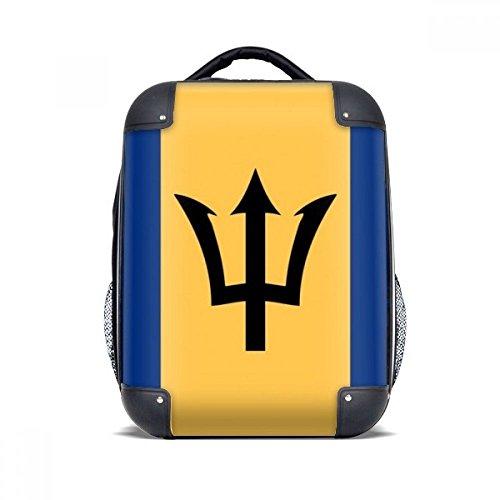 "DIYthinker Barbados Nationalflagge Nordamerika Land Hard Case Schultertrage Kinder Rucksack Geschenk 15"""