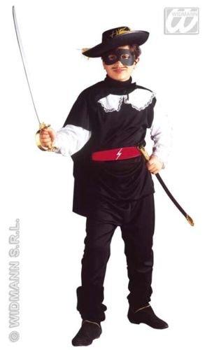 Widmann Kostüm für Kinder Maskierter Bandit (158cm/11-13Jahre), schwarz, Größe S, (Black Bandit Kostüm)