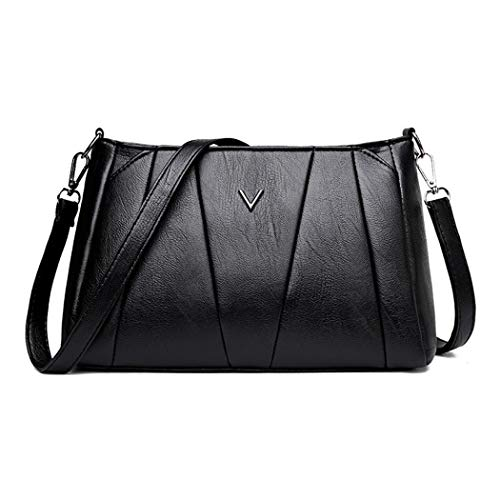 COOFIT Bolso Messenger Simple Casual Pure Color Crossbody