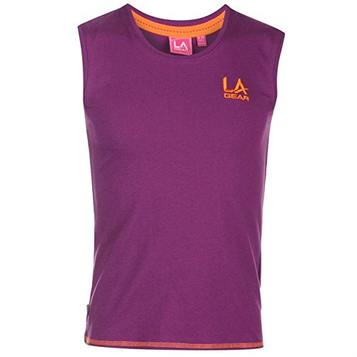 la-gear-madchen-t-shirt-armellos-top-freizeit-shirt-sport-schule-122-158-lila-122-128