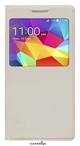 Sun Mobisys™; Samsung Galaxy Grand Prime Flip Cover; Flip Cover for Samsung Galaxy Grand Prime G530 White  available at amazon for Rs.149