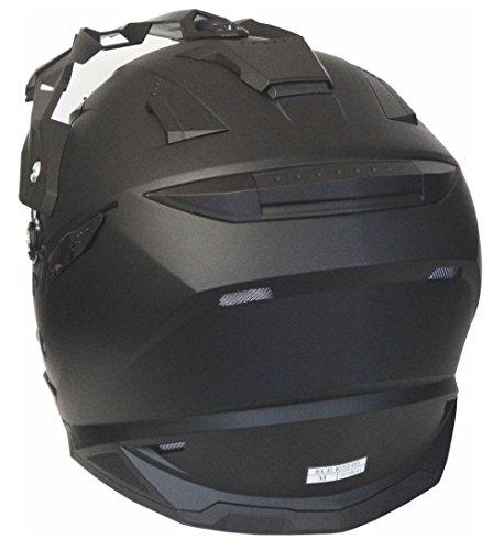 Motorradhelm MX Enduro Quad Helm matt schwarz mit Visier und Sonnenblende Gr. XL - 4