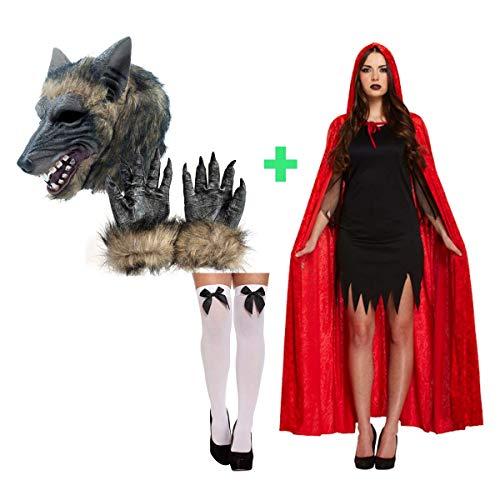 Unbekannt Rotkäppchen und Wolf Paar Kostüm Halloween (Lustiges Für Erwachsenes Paar Kostüm)