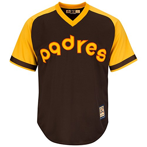 San Diego Padres Cooperstown Majestic Cool Base Retro Brown Jersey Cooperstown Base