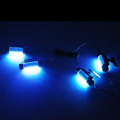 4 luci lampade 3 led blu accendisigari per interno auto for Lampade a led da interno