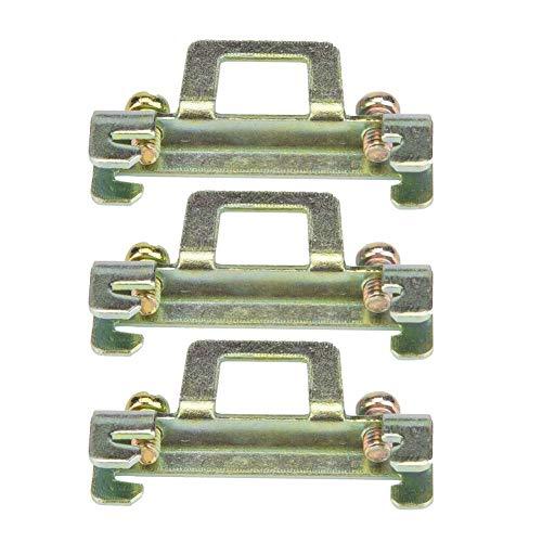 10pcs 35mm DIN Führungsschiene Feste Klammer zum Befestigen des Clips(Metal Model 11) -