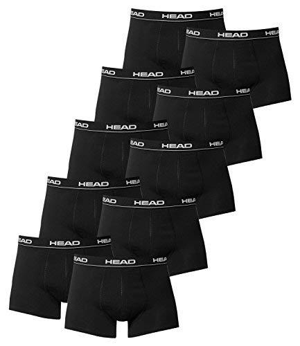 HEAD Boxers para Hombres Calzoncillos para Hombre Pack de 10 en varios colores - XL, negro