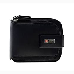 Swiss Military Black Mens Wallet (PW4)