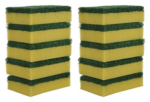 Brite Guard Polyester Multipurpose Scrub Sponge (Green, 10-Piece)