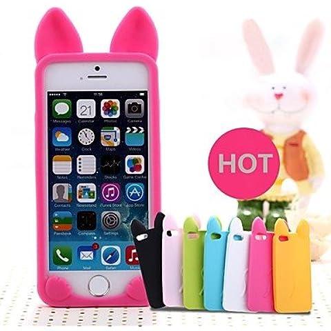 Funda de teléfono multifunción / cuero / soft shell/ lindo gato blanda de silicona para iPhone 6 (surtido de colores), Rose