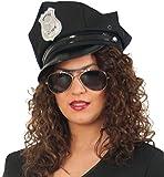 Polizei-Mütze, schwarz, Gr. 58 cm