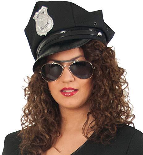 Polizei-Mütze, schwarz, Gr. 58 ()