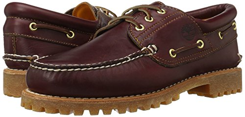 Timberland Heritage 3-eye Classic Lug, Men's Boat Shoes, Burgundy, 14.5 UK