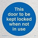 Viking Schilder ma219-s40-msDiese Tür aufbewahrt werden Gesperrt, wenn nicht in Gebrauch zu Sign, marine Grade Edelstahl, 400mm x 400mm