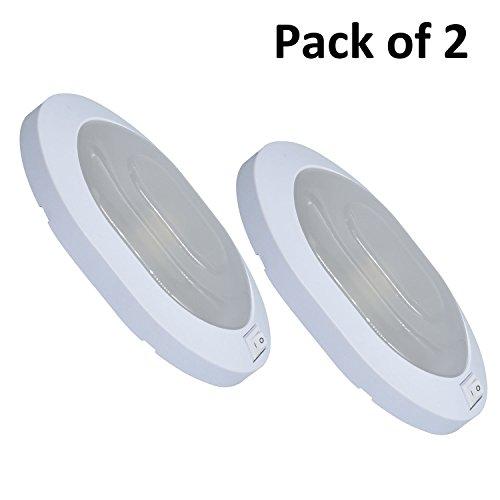 Facon 12V 4W LED Little Star Deckenleuchte Innenbeleuchtung mit ON/OFF-Schalter für Camper/ Wohnmobil /Wohnwagen/ Anhänger /Boot /Marine / Fahrzeug