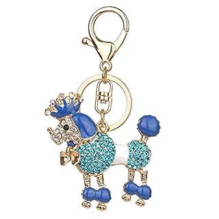 Fancyland Keychain Frauen Europäischen Und Amerikanischen Populären Crown Pudel Hund Keychain Dame Kinder Rucksack Anhänger