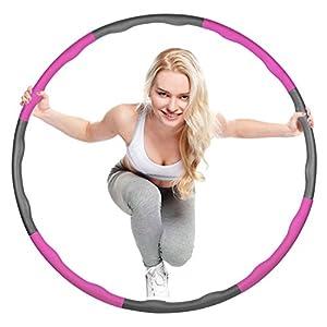 Mture Hula Hoop-Serie zur Gewichtsreduktion,Reifen mit Schaumstoff 1.2kg Gewichten beschwerter Hula-Hoop-Reifen f¨¹r Fitness