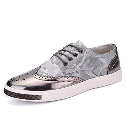 Brock per il tempo libero scarpe uomo scarpe Board di scultura/[Scarpe uomo scolpiti]/Moda Uomo Scarpe-A Lunghezza piede=24.8CM(9.8Inch)