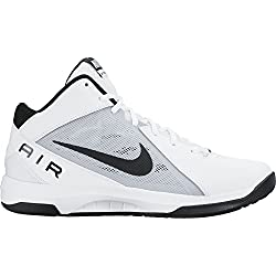Nike the Air Overplay IX, Zapatillas de Baloncesto para Hombre, Blanco (White / Black-Pure Platinum), 40 EU