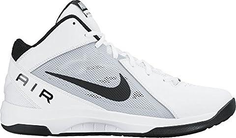 Nike the Air Overplay Ix, Chaussures de Basketball Homme, Blanc (White/Black-Pure Platinum), 42 EU