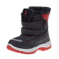 Rugged Bear Boys' Winter Snow Boots, Size 8 Toddler, Black-Red'
