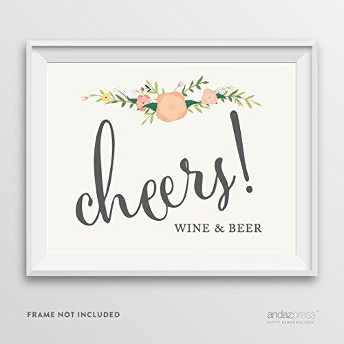 Andaz Drücken Hochzeit Party Schilder, Blumen Rosen Print, Final Lager Set