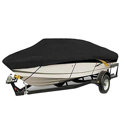 WCS Kältebeständige Wasserdichte Oxford Tuch Yacht Sport Schnellboot Beiboot Fischerboot Abdeckung Universal Boat Cover UV Schutz Trailer Cover schwarz Zelt-Kleint (Size : 11-13ft/420 x 270CM) (12 Ft Trailer)