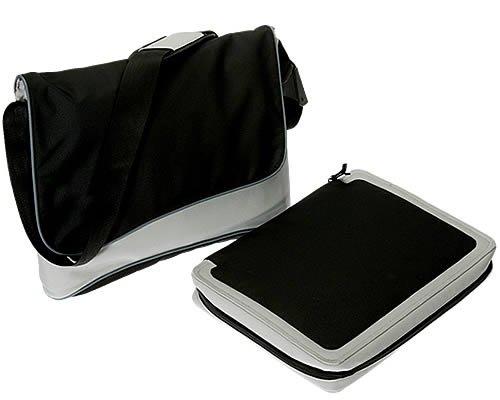 T 17 BAG Notebooktasche Laptoptasche * Messenger mit entnehmbarer Laptoptasche * Neu * 17 ZOLL * SCHWARZ GRAU (17-zoll-widescreen Laptop-tasche)