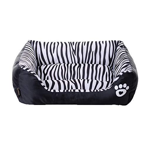 BYNLYY Mode Zebra Muster Pet Kennels Warme Winter Pussy Nest Kennel Sofa Kissen (Farbe : SCHWARZ, größe : S)