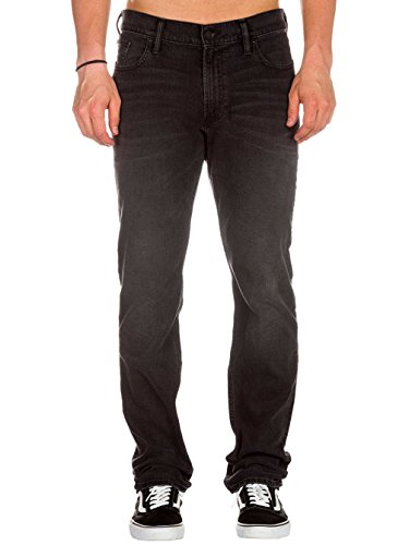 Jeans DC Washed Straight Fit Medium Worn Noir Wash medium worn black wash/noir