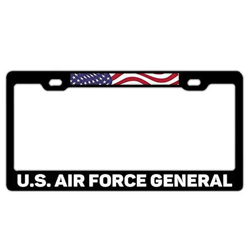 Superlicenseframe Nummernschild-Halterung, universal, lustig, für Nummernschilder, mit 2 Schrauben und Kappen, Schwarz, U.S. Air Force America (Kennzeichenhalter Adler)