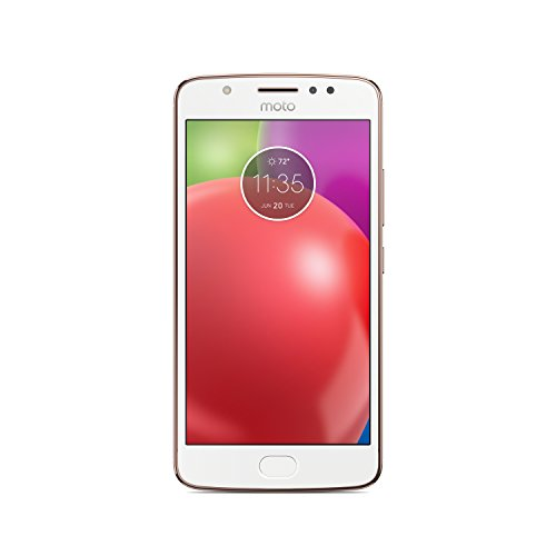 "Motorola XT1762 Moto E4 Smartphone da 5"" HD, Quad-core, 2GB RAM, 16 GB ROM, 8MP Camera, 4G LTE, Dual SIM, Blush Gold"