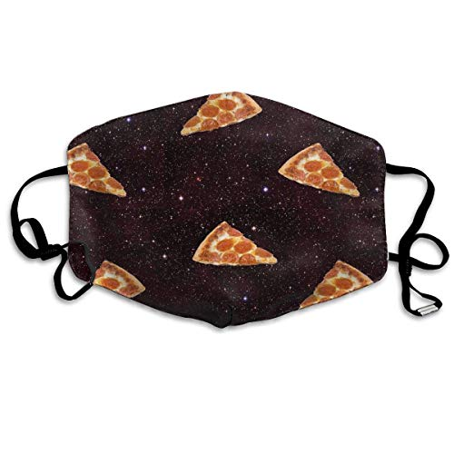 liang4268 Mundmasken Pizza Galaxy Washable Reusable Safety Mask Cotton Anti Dust Half Face Mouth Mask for Kids Teens Men Women Lovers Dustproof with Adjustable Ear Loops