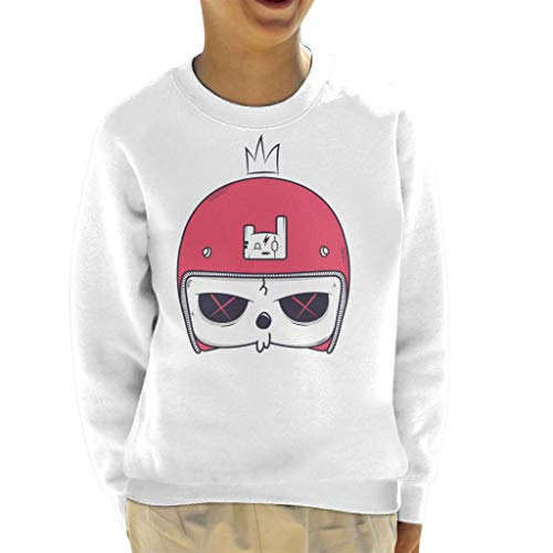 Cartoon Skull Helmet Kid's Sweatshirt